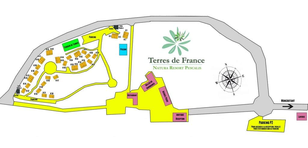 MAP of the Residence Natura Resort Pescalis
